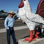Dennis Patterson in front of Nampa Egg Factory