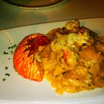 Limoncello-infused pasta with lobster