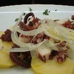 Calamars et fenouil sur lit de pommes de terre