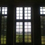 The view through the front windows onto grounds