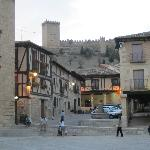 View of the castle from Penaranda town square