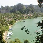 View of Railay East from the viewpoint. You can spot the hotel on the middle left.