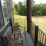 Small outdoor porch on room #176
