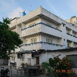 hotel building back view