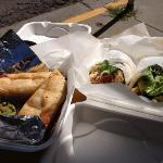 amazing taquitos and fresh chicken salad
