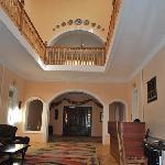 Inside hall of hotel
