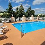 Outdoor pool open during June - August