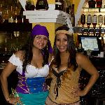 Our bartenders in the spirit of Halloween.