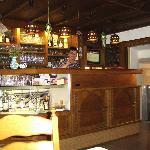 Leo behind the bar