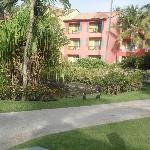 Well kept hotel grounds