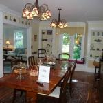 The beautiful dining room