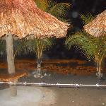 beach tables at Aqua Beach