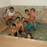 Tina romana dentro de la habitacion,agua 100% termal...