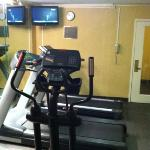 cramped fitness room