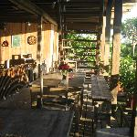 The eating area