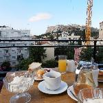 breakfast with a view at Hotel Metropolitan