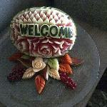 Welcome fruit carving