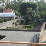 view onto the Orto - vegetable garden