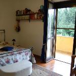 """""""Blu """" con vista balcone e piccolo giardino,solarium"""