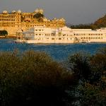 Lake Pichola and James Bond hotel