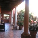 Part of a courtyard area.