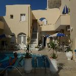 Pool side and various rooms