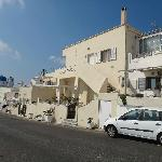 The hotel is along the main road from Fira to Oia, very conveniently located and easy to find.