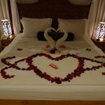 The 'honeymoon' bed, so lovely