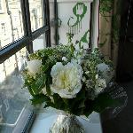 """Accueil """"avec des fleurs"""" (en option)"""