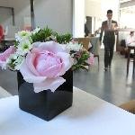 flower arrangement on the table