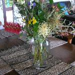 Fresh flowers on arrival