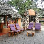 main area of the camp, great for viewing the many hippo pools