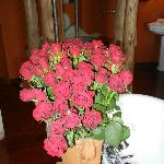 fresh roses in the room