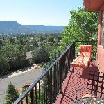 Kokopeli Room balcony view.
