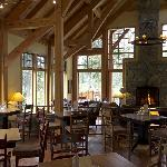 Part of dining and lounge area of main lodge
