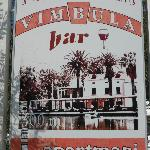 Ad showing river view of the restaurant