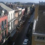This is a view of Bourbon Street in the morning from the 3rd floor rooftop pool