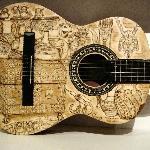 Beautiful designs on handmade guitar