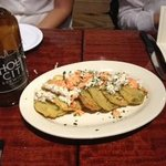 fried green tomatoes, holy city beer dinner