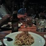 The famous Carbonara at Pili's & MOn's