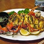 Delicious stuffed lobster