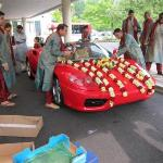 Ferrari Being decorated for the Groom