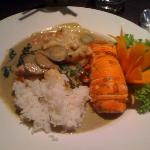 Lobster in green curry