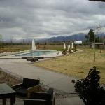 View from the restaurant to the Andes.