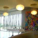 Hotel lobby/restaurant.