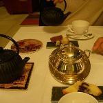 Excelent tealosophy tea at the restaurant.