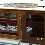 Showing the inside of the boat