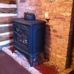 "the gas ""fire place"" (not romantic)"