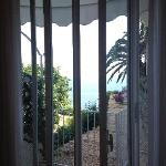 View from our room. We booked a side seaview and were upgraded