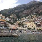 View of Positano from the ferry